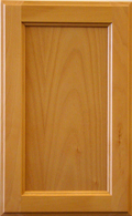 Beech Beaded Recessed Panel - Natural