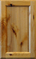 Knotty Alder Recessed Panel - Natural