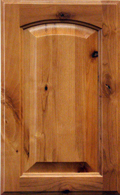 Knotty Alder Standard Arch Raised Panel - LHB