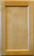 White Birch Beaded Recessed Panel - Natural